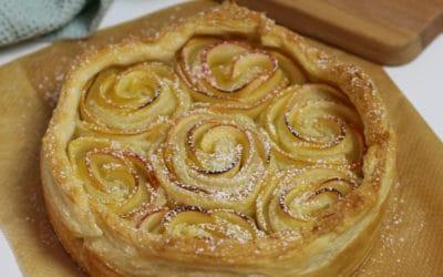 Apfelkuchen Rezept | 3 Zutaten Apfelrosen Kuchen