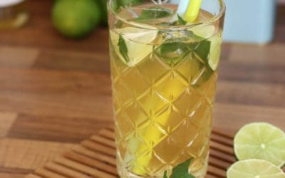 Eistee Hugo | Sommergetränk selber machen (alkoholfrei)