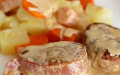 Schweinefilet mit Bacon | Creme Fraiche Sauce
