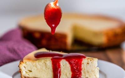 Käsekuchen mit Keksboden | Rezept für New York Cheesecake