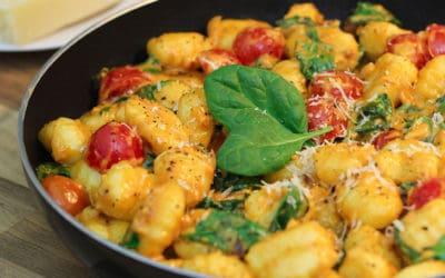 Gnocchi Pfanne | mit Spinat und Tomate