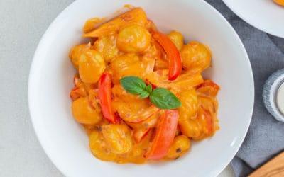 Gnocchi mit Paprika und Frischkäse