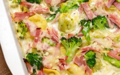 Käse Sahne Soße Tortellini Auflauf